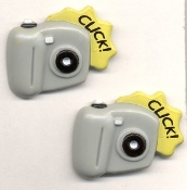 Big Button Post CAMERA EARRINGS - Paparazzi Photographer Charm Jewelry