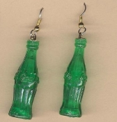 COKE BOTTLE EARRINGS - Coca Cola Soda Pop Soft Drink Charm Jewelry - Vintage-look