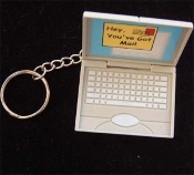 COMPUTER LAPTOP KEYCHAIN - Funky Graduation - Teacher - Plastic Mini Toy Executive Gift