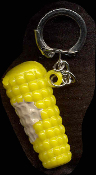 CORN-on-the-COBB KEYCHAIN - HUGE Vintage Vending Funky Food Charm Jewelry