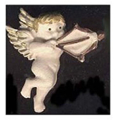 Funky CUPID CHERUB ANGEL BUTTON PIN BROOCH with Bow and Arrow - Valentine's Day Love Novelty Costume Jewelry - Dimensional RESIN Charm, approx. 1.5-inch (3.75cm) tall.
