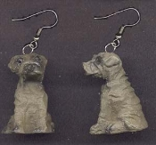 DOG - 3D - EARRINGS - H - Mini Resin Pet Puppy Charm Novelty Figure Jewelry