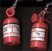 Huge FIRE EXTINGUISHER EARRINGS - Firefighter / Fireman / Fire Fighter Jewelry