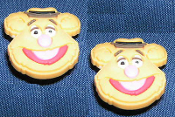 Big Funky FOZZIE BEAR POST EARRINGS - Sesame Street TV Costume Jewelry