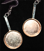 Large COPPER FRYING PAN EARRINGS - Restaurant Cooking Chef Costume Jewelry