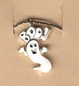 GHOST BOO PENDANT NECKLACE-Halloween Charm Funky Costume Jewelry