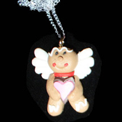 GINGERBREAD NECKLACE-ANGEL-Holiday Cookies Food Novelty Jewelry