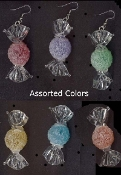 HARD CANDY CANDIES in WRAPPER EARRINGS - Novelty Jewelry -1 Pair
