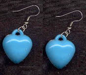 HEART BLUE PASTEL EARRINGS - Cute Valentines Day Love Charm Jewelry