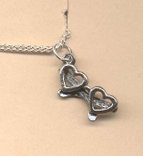 HEART GLASSES PENDANT NECKLACE-Valentines Day Love Charm Jewelry