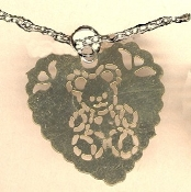 HEART TEDDY BEAR PENDANT NECKLACE-Vintage Filigree Charm Jewelry