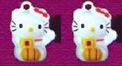 HELLO KITTY BELL EARRINGS - K - Funky Novelty Jewelry - Really Rings!