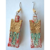 HOUSE Glitter EARRINGS - Realtor Charm - Country Home - Realty Jewelry -A