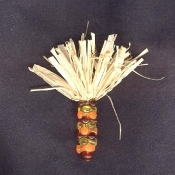 Big INDIAN CORN BEAD INDIAN CORN BEAD PIN BROOCH - Beautiful Thanksgiving Fall Autumn Harvest Native American Maize Jewelry