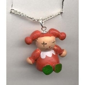 JACK-in-the-BOX JESTER CLOWN PENDANT NECKLACE-Toy Funky Jewelry