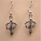 KNIGHT in Shining Armour EARRINGS - Medieval Prince Renaissance Castle Jewelry
