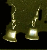 LIBERTY BELL EARRINGS - American Teacher Patriotic Charm Gift - Tiny GOLD-tone Metal