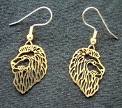 Funky Vintage LION HEAD EARRINGS - Safari Zoo Jungle Animal Charm Novelty Costume Jewelry - LEO - Gold-tone Genuine Brass Stamped Filigree charms. Great for any Tarzan, Lion King or Madagascar movie fans. King of the Jungle!
