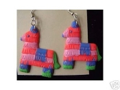 PINATA EARRINGS - Donkey / Burro - Mexican Fiesta - Birthday Party - Mexico Fiesta Charm Jewelry