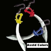 Funky Mini PIRATE SWORD EARRINGS Punk Emo Costume Jewelry -1Pair, chosen from assorted colors, as shown. Aye, matey!