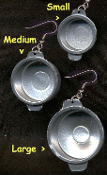 POTS & PANS EARRINGS - Cook Chef Restaurant Costume Jewelry - Small