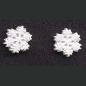 SNOWFLAKES EARRINGS - Snowflake - Skating Jewelry - Tiny WHITE