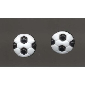 SOCCER BALL BUTTONS EARRINGS - Coach Ref Team Mom Gift Jewelry
