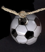 SOCCER BALL PENDANT NECKLACE-Funky 3d Referee Coach Team Jewelry