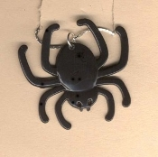SPIDER BLACK WIDOW PENDANT NECKLACE-Gothic Witch Costume Jewelry