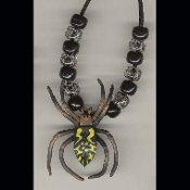 TARANTULA SPIDER PENDANT NECKLACE-Gothic Novelty Jewelry-SPOTTED
