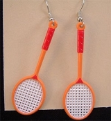 Funky Mini TENNIS BADMINTON RACKETBALL EARRINGS - Charm Jewelry