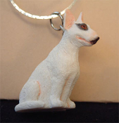 BULL TERRIER DOG PENDANT NECKLACE-Spuds Mackenzie Funky Jewelry