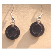 Mini Metal CUP and SAUCER EARRINGS - Drink Mug Coffee TEA 3-d Charm Jewelry
