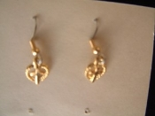 CROSS HEART EARRINGS - WWJD - Christian Love Jewelry -GOLD
